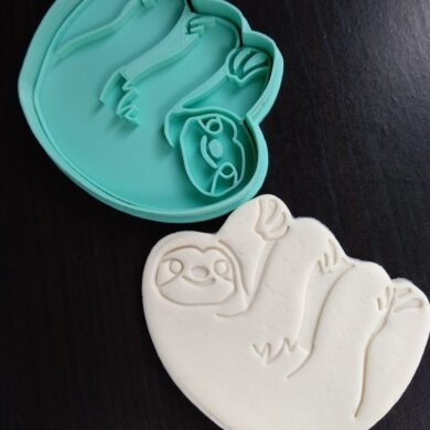 Sloth Cookie Fondant Embosser Stamp