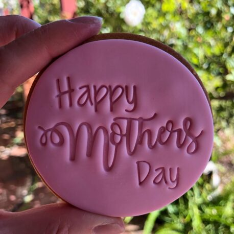 Happy Mothers Day Fondant Cookie