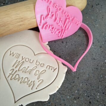 Fondant embosser Will you be my flower girl Cookie stamp.