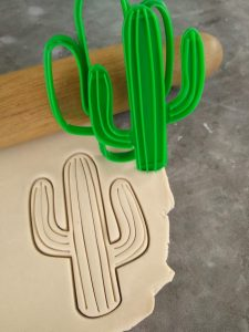 Cactus Cookie Cutter and Fondant Stamp Embosser
