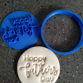 Happy Fathers Day Cookie Fondant Embosser Stamp and Cutter