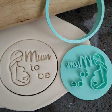 Mum to Be Cookie Fondant Embosser Stamp and Cutter Baby Shower