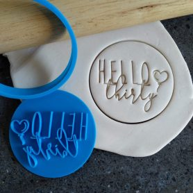 Hello Thirty 30th Birthday Cookie Fondant Stamp & Cutters