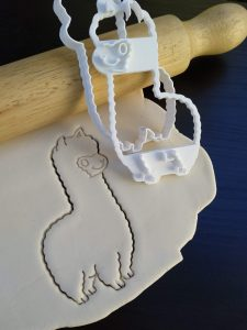 Llama Cookie Fondant Embosser and Cutter