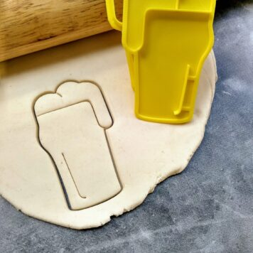 Beer Pint Nonic Glass Cookie Cutter & Fondant Stamp