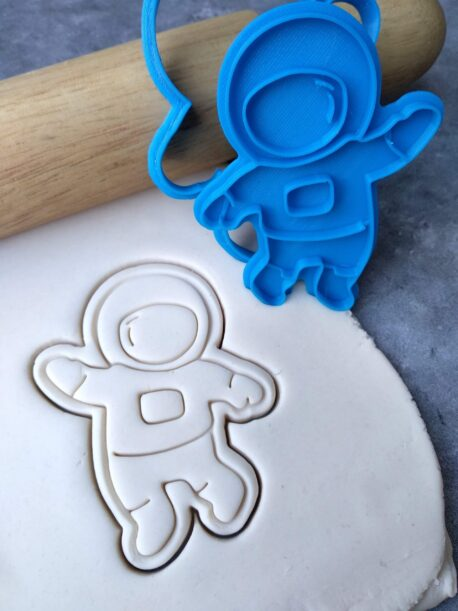 Astronaut Space Man Cookie Cutter and Fondant Stamp