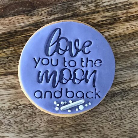 Love you to the Moon and Back Cookie Fondant Stamp and Cutter
