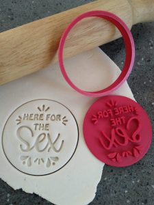 Gender Reveal Cookie Fondant Embosser Stamp & Cutter Fathers Day