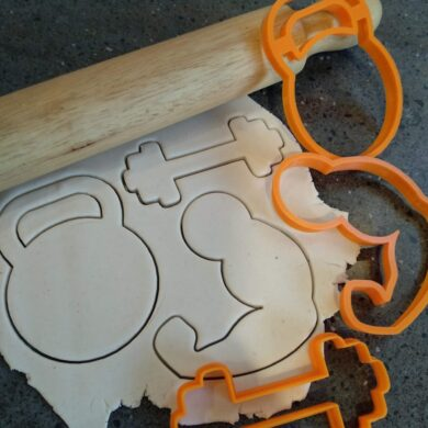 Gym Cookie Cutters Kettle Bell, Muscles, Weights