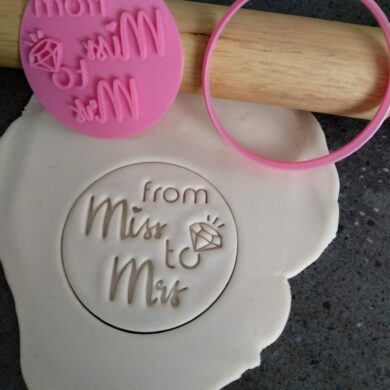 from Miss to Mrs Ring Cookie Fondant Stamp & Cutters for Hens Party / Hens Day / Bachelorette