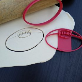 AFL Footy Football Sherrin Cookie Cutter or Fondant Stamp