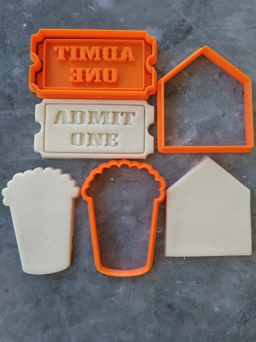 Carnival Circus Theme Popcorn Admit One Tent Cookie Fondant Embosser Stamp & Cutters