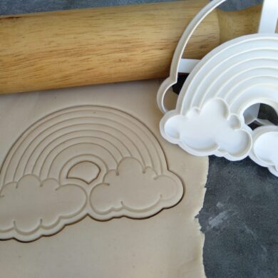 Rainbow Cookie Fondant Stamp Embosser and Cutter
