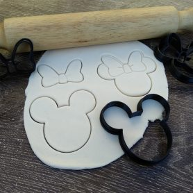 mickey and minnuie mouse cookie fondant cutter embosser