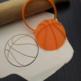 Basketball Cookie Cutter & Fondant Stamp Embosser