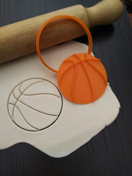 Basketball Cookie Cutter & Fondant Stamp Embosser
