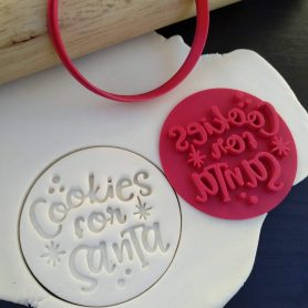 Cookies for Santa Christmas Xmas Cookie Fondant Embosser Stamp & Cutter