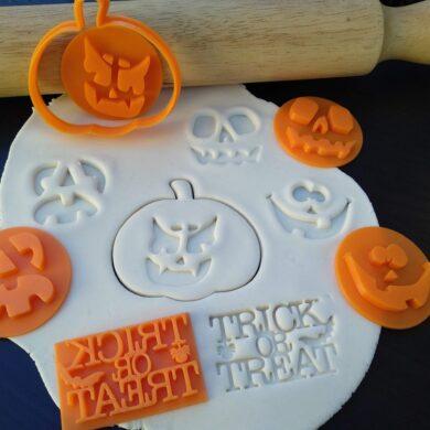 jack o lantern pumpkin cookie fondant cutter embosser