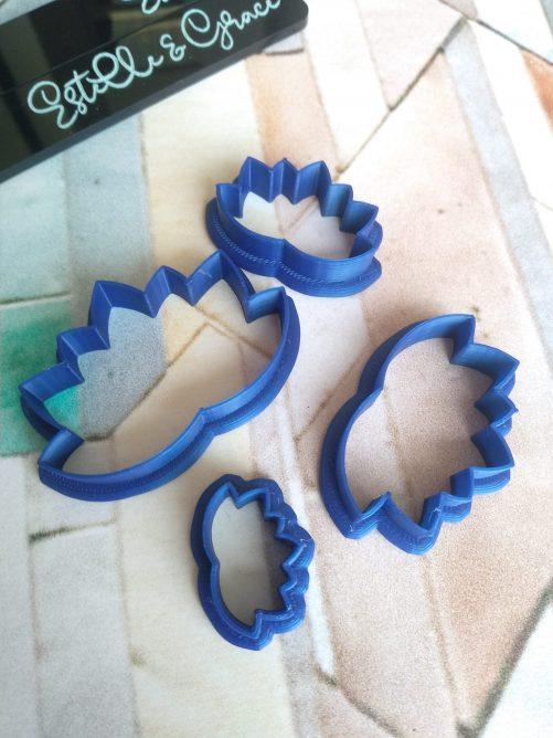 Lotus Fan Polymer Clay Cutters
