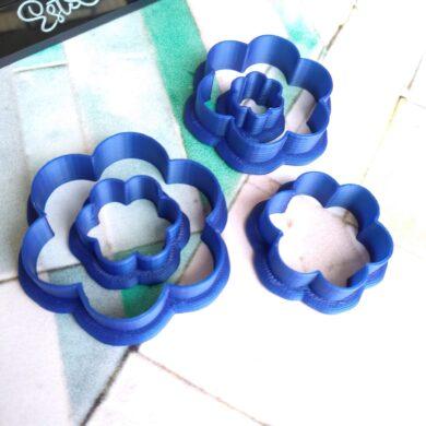 Six Petal Flower Clay Cutters
