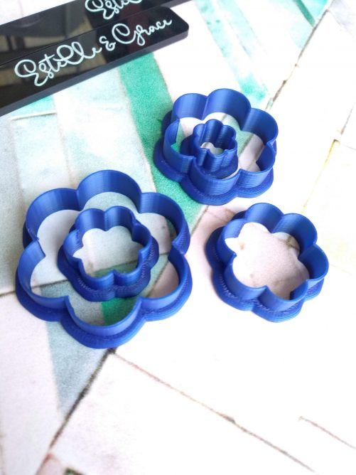 Six Petal Flower Clay Cutters
