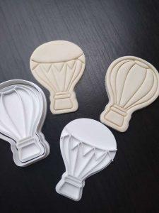 hot air balloon fondant embosser cookie cutter