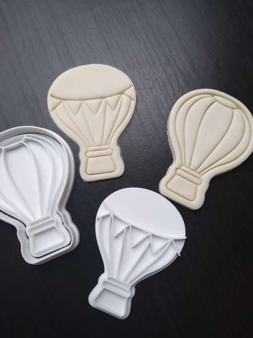 hot air balloon fondant embosser cookie cutter