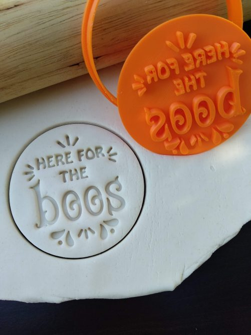 Here for the Boos - Halloween Cookie Fondant Embosser Stamp and Cutter