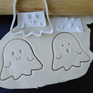 Cute Ghost - Halloween Cookie Fondant Embosser Stamp and Cutter