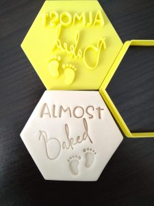 Almost Baked Cookie Fondant Embosser Stamp and Cutter Baby Shower Cookie Cutter