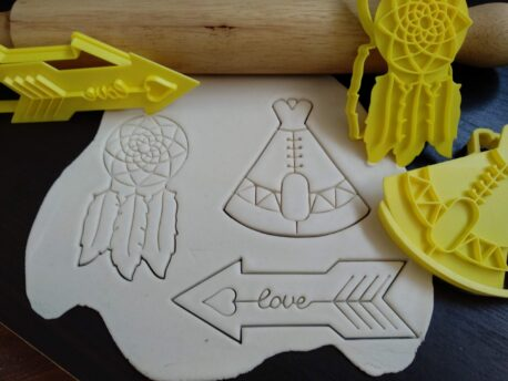 Boho (Style 2) Cookie Fondant Embosser Stamp & Cutter