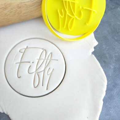 Fifty 50th Birthday Cookie Fondant Stamp & Cutter