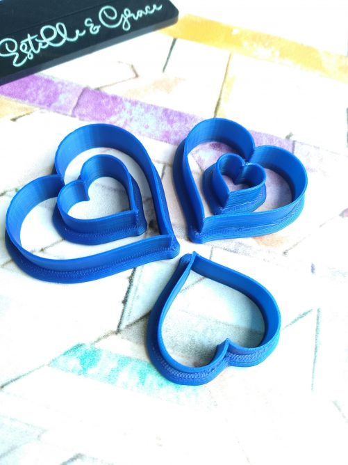 Love Heart Polymer Clay Cutters