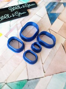 Boxy Oval Polymer Clay Cutters
