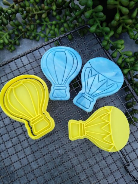Hot Air Balloon Cookie Cutter and Fondant Embosser Stamp Set