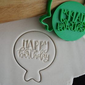 happy birthday balloon fondant embosser