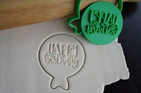 happy birthday balloon fondant embosser