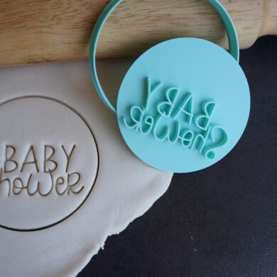 baby shower fondant cookie embosser cutter
