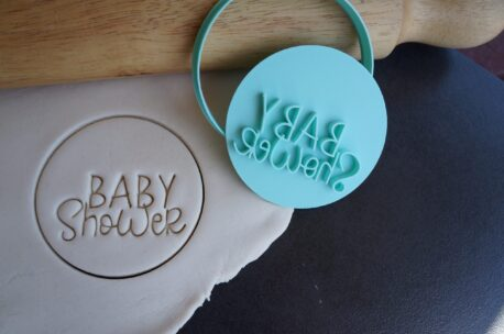 baby shower fondant cookie embosser cutter