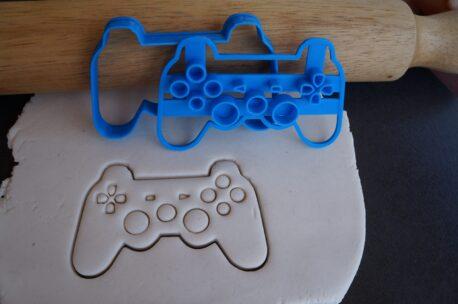Playstation fondant cookie embosser cutter