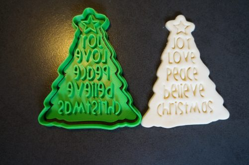 Christmas Tree Cookie Cutter and Fondant Embosser Stamp