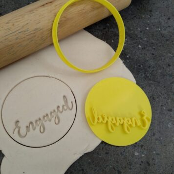 DIY Engaged Cookie Fondant Stamp Embosser and Cutter