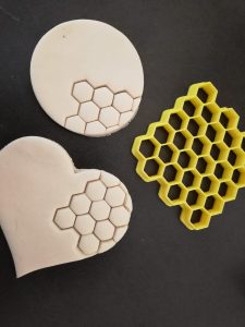 Honeycomb Pattern Hex Cookie Fondant Embosser Stamp