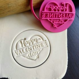 Happy Valentines Day Cookie Fondant Embosser Stamp and Cutter