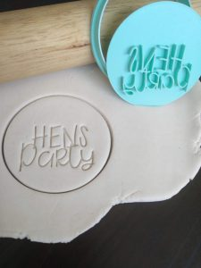 Hens Party Cookie Fondant Embosser Stamp and Cutter