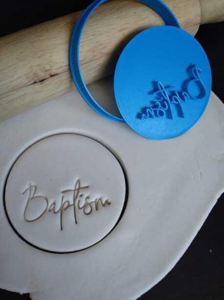Baptism Cookie Fondant Embosser Stamp and Cutter