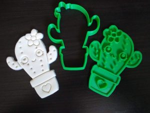Cute Kawaii Cactus Cookie Cutter / Fondant Embosser Stamp