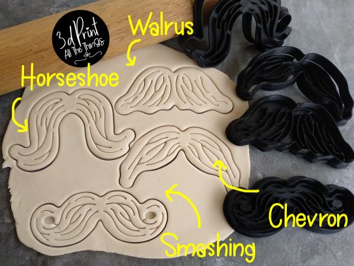 Moustache Cookie Fondant Embosser Stamp and Cutter Movember Mo Fathers Day