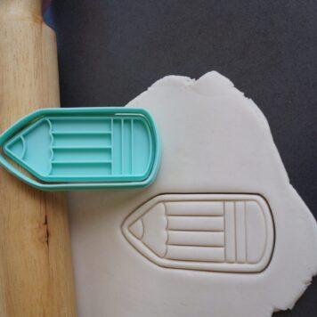 pencil cookie cutter fondant embosser