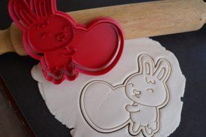valentines bunny heart cookie cutter fondant embosser
